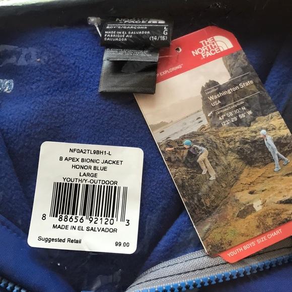73939c9bd North Face Kids Apex Bionic Soft Shell Jacket